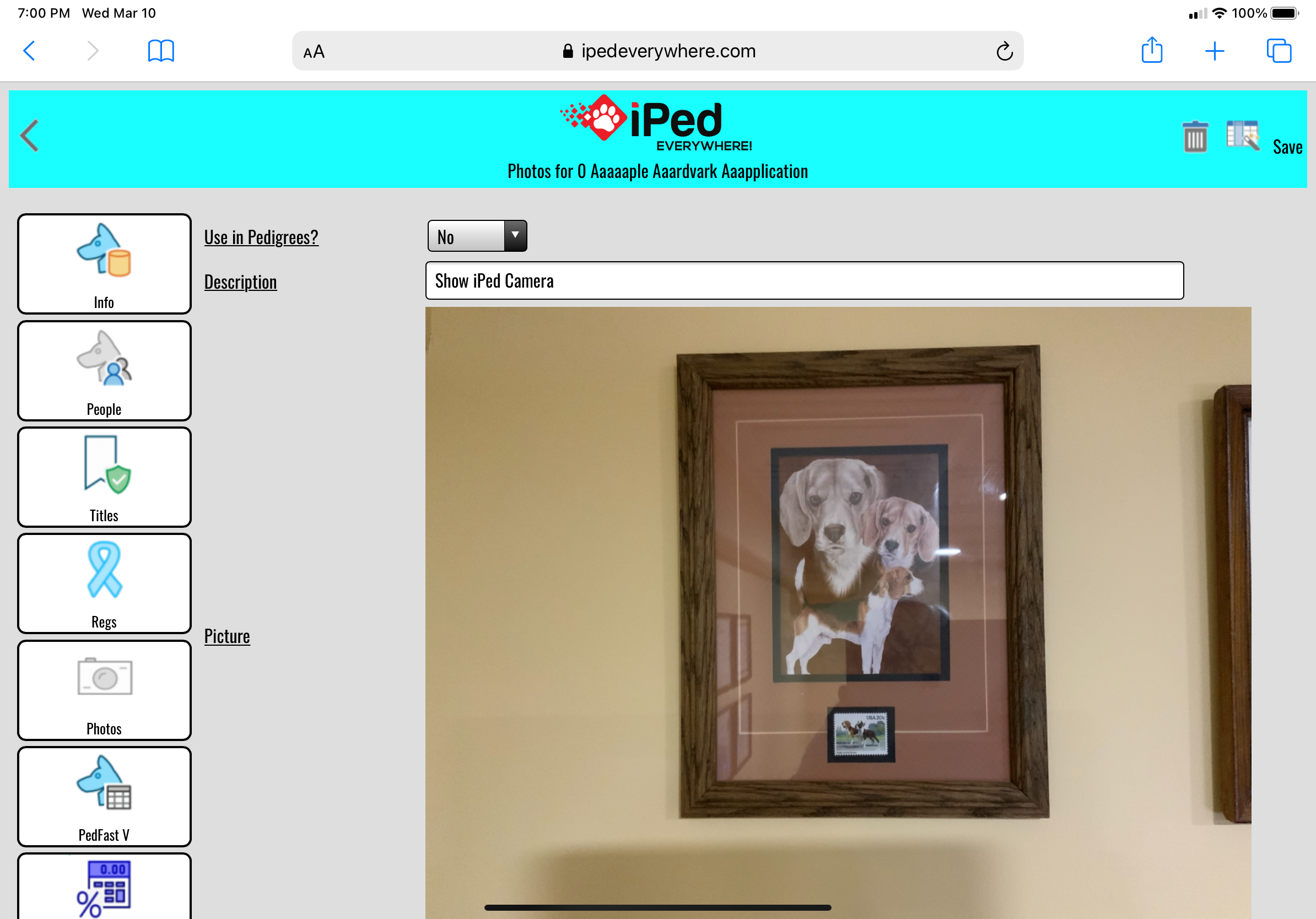 iPed Everywhere for device browser